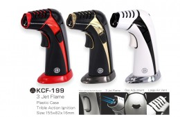 KCF-199 3-Jet-Flame Torch Gun Lighter