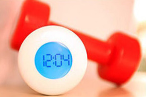 Dumbbell Alarm Clock ..