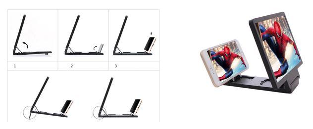 Mobile Phone 3D Enlarged Screen Holder.