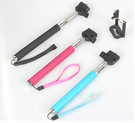 Monopod Selfie Stick Handheld Wireless Bluetooth Remote Control Shutter