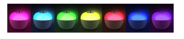 Portable Apple Light Lamp with Blowing Control Switch and Color Changing.