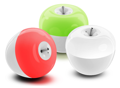 Portable Apple Light Lamp with Blowing Control Switch and Color Changing