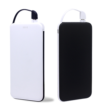 Power Bank with built in Lightning & Micro USB Cable