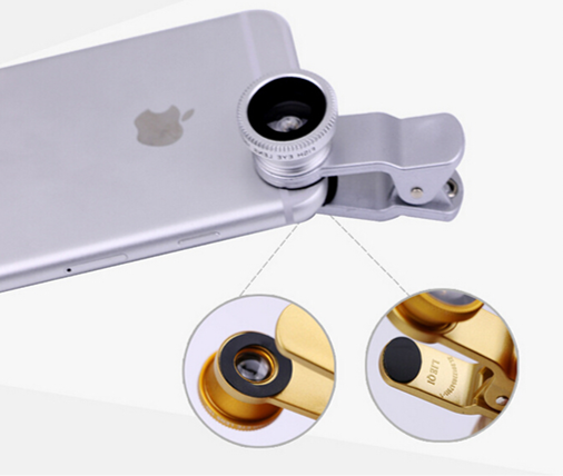 Universal 3 in 1 Clip-on CellPhone Mobile Camera Lens